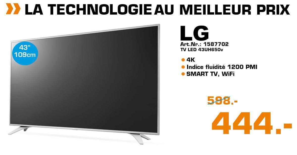 TV LG 43UH650V - 4K UHD