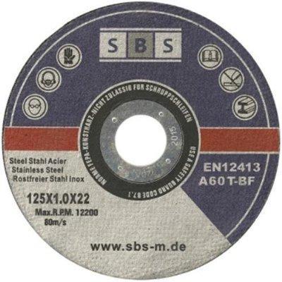 Lot de 50 disques à découper en acier inoxydable SBS pour meuleuse (125mm) 125 x 1 mm