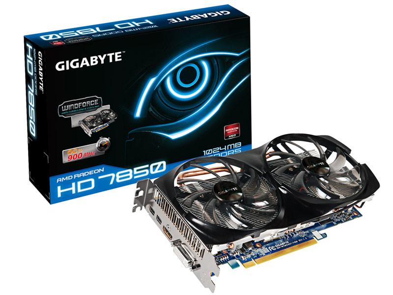 Carte graphique Gigabyte GV-R785OC-1GD - Radeon HD7850 - Avec 3 jeux PC