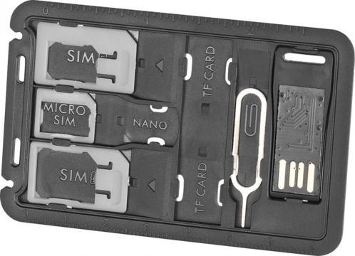 Porte-cartes SIM et lecteur de carte microSD (livraison incluse)