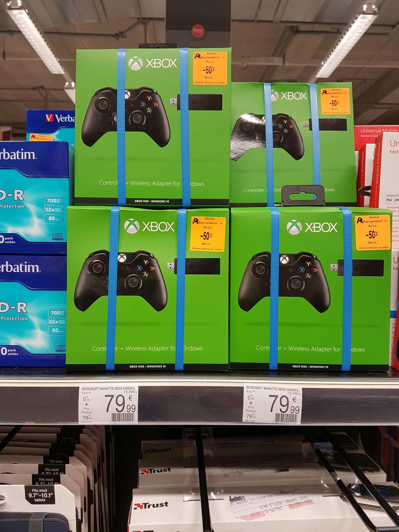 Manette pour Xbox One + adaptateur sans-fil