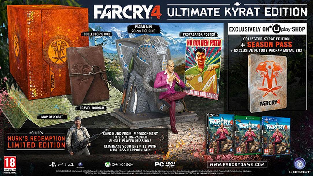 Far Cry 4 sur Xbox One et PS4 - Kyrat Edition à 12.25€ et Ultimate Kyrat Edition