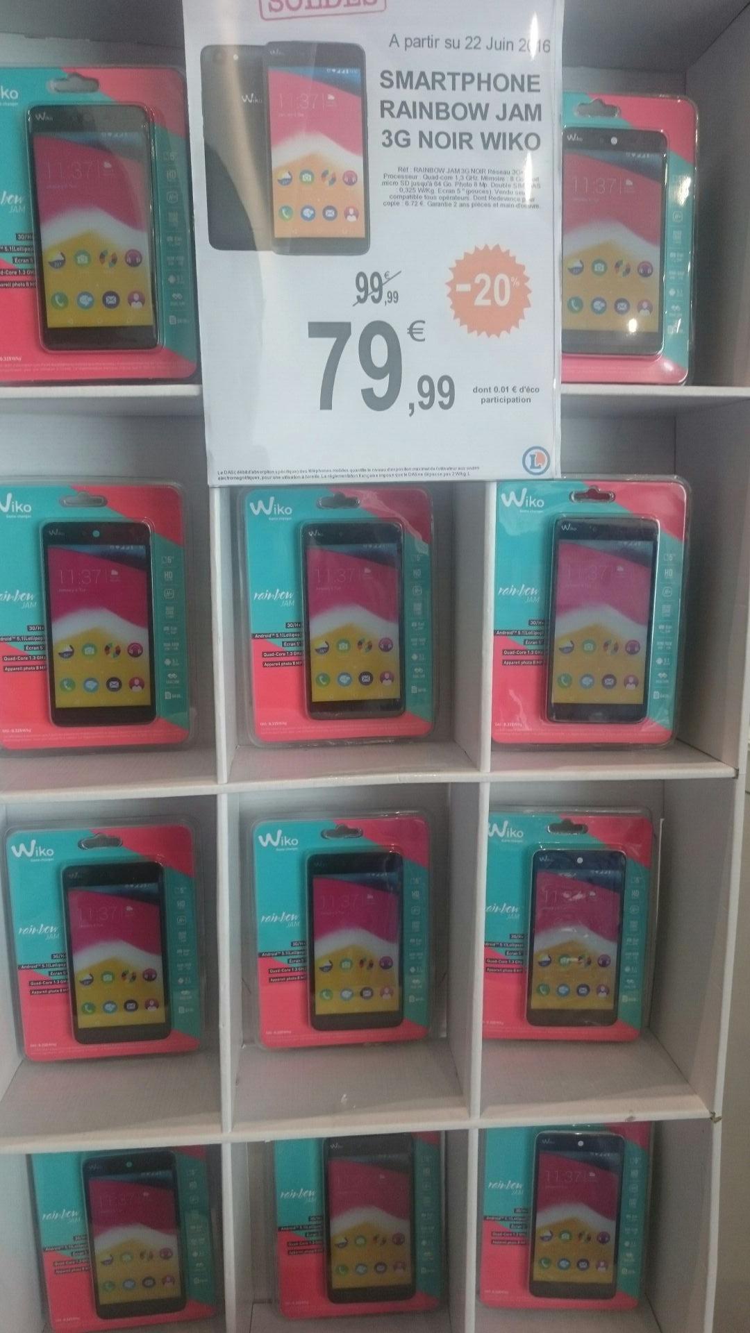 """Smartphone 5"""" Wiko Rainbow jam 3G+"""
