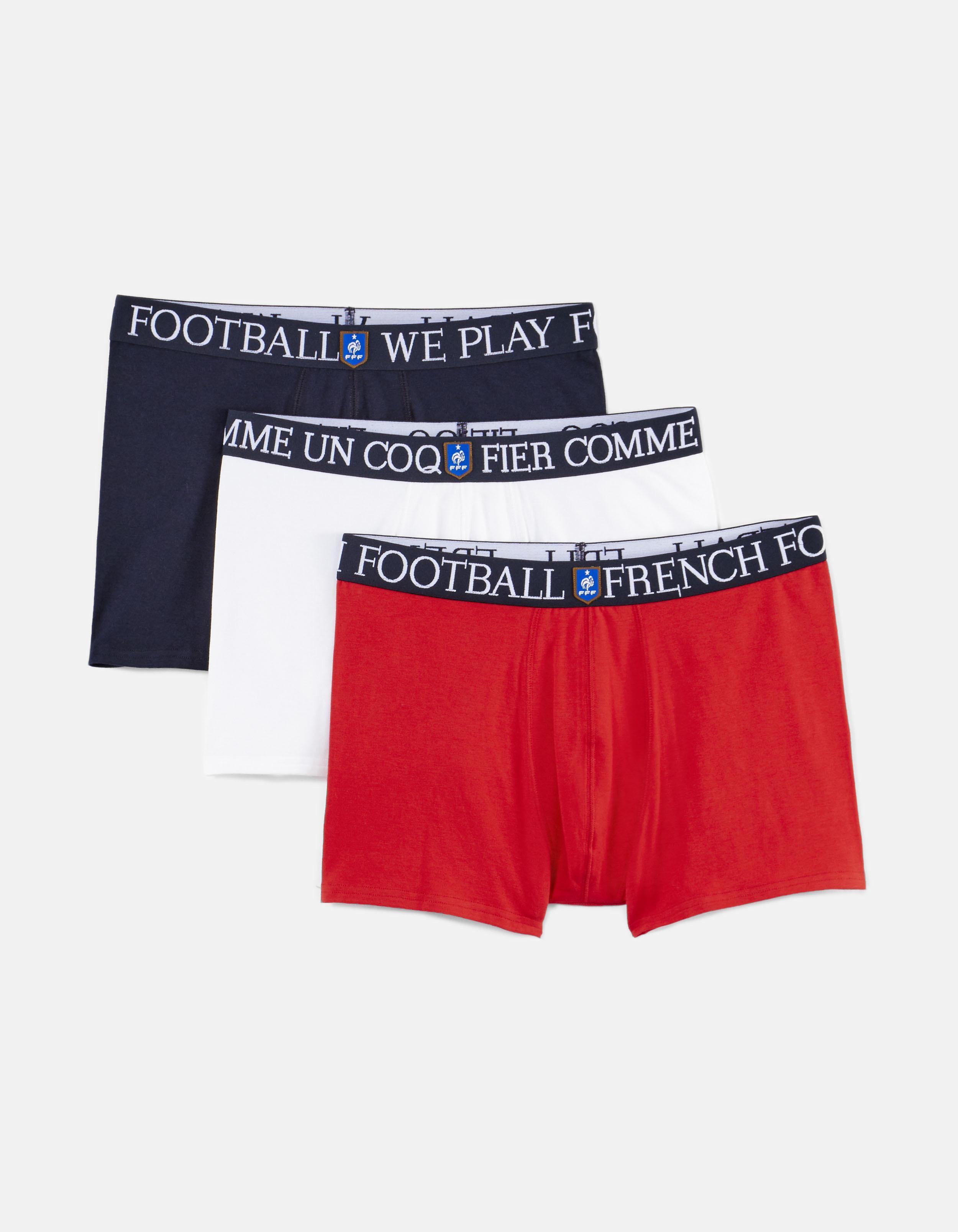Lot de 3 Boxers tricolores FFF