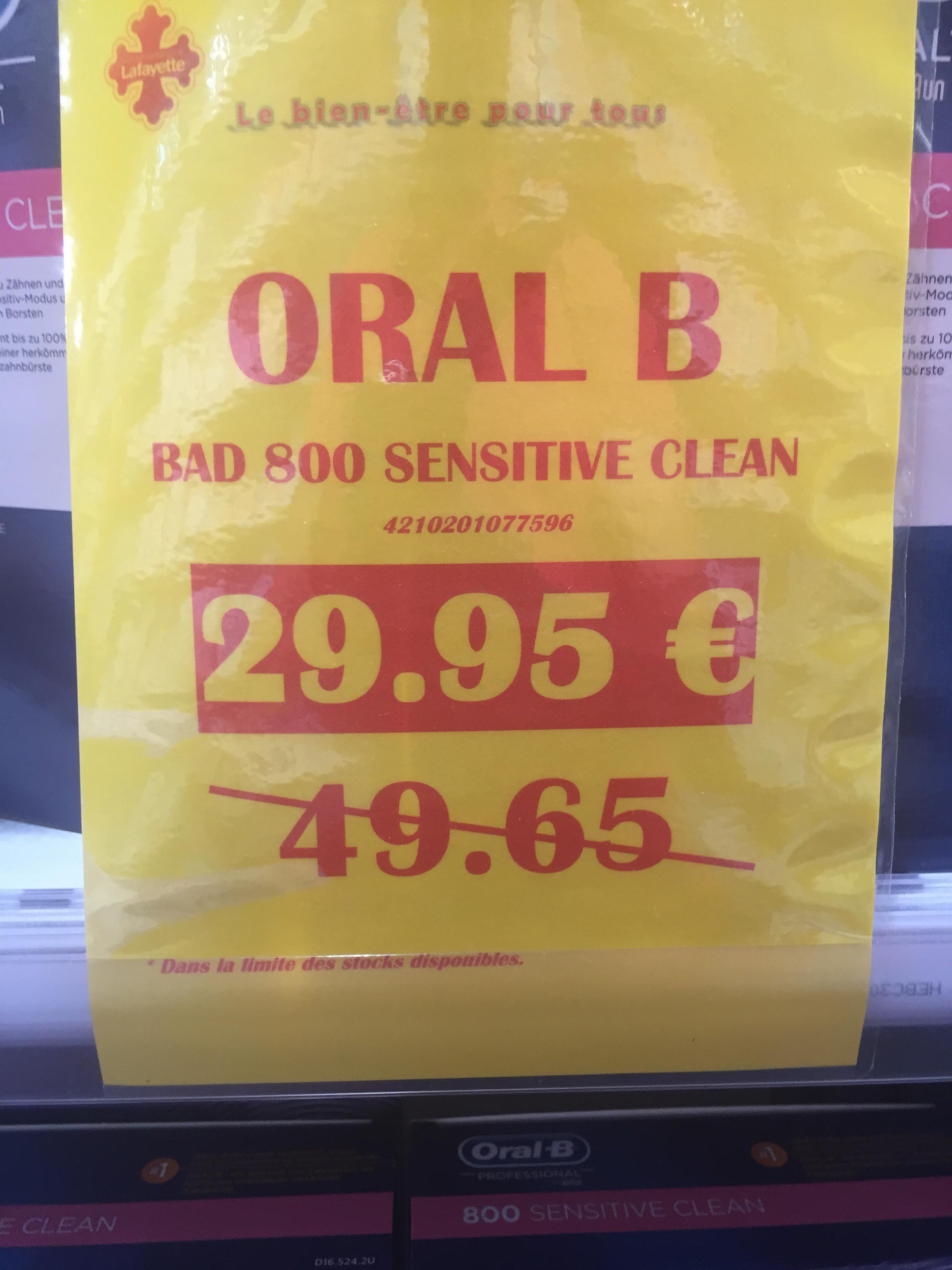Brosse à dents électrique Oral b 800 sensitive