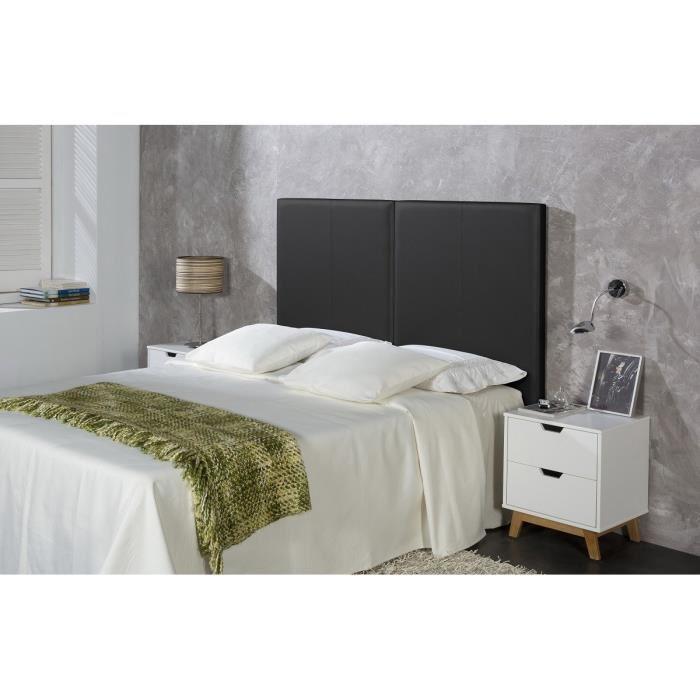Tête de lit Split en simili - Noir (160 x 5 x 95 cm)