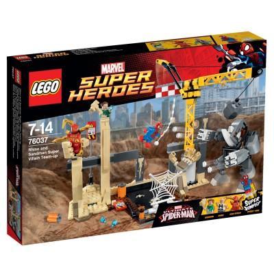 Jouet Lego Marvel Super Heroes - L'équipe de super vilains de Rhino et de l'homme-sable (76037)