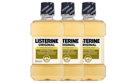 3, 5 ou 10 bains de bouche Listerine 250 ml dès