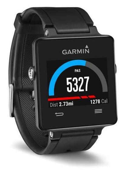 Montre GPS Connectée Garmin Vivoactive Noire ou Blanche