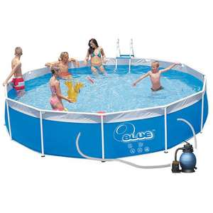 Piscine O`BLUE Tubulaire 5.50 X 1.00 M + Bâche de protection