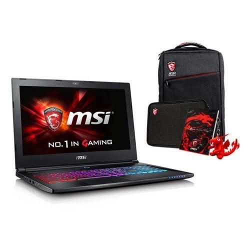PC Portable 15,6'' MSI GS60-6QE-455FR - UHD, i7-6700HQ, RAM 16Go, SSD 256Go + 1To, GTX 970M 3Go + Sac à dos + Pochette + Cahier + Porte-clé