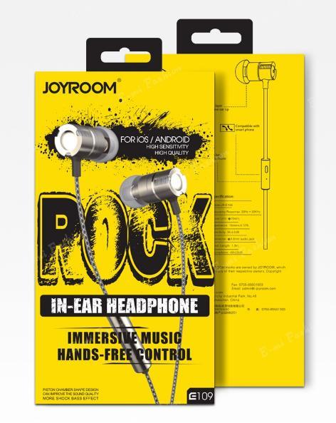 Écouteurs intra-auriculaires Joyroom JR-E109 (sans boîte)