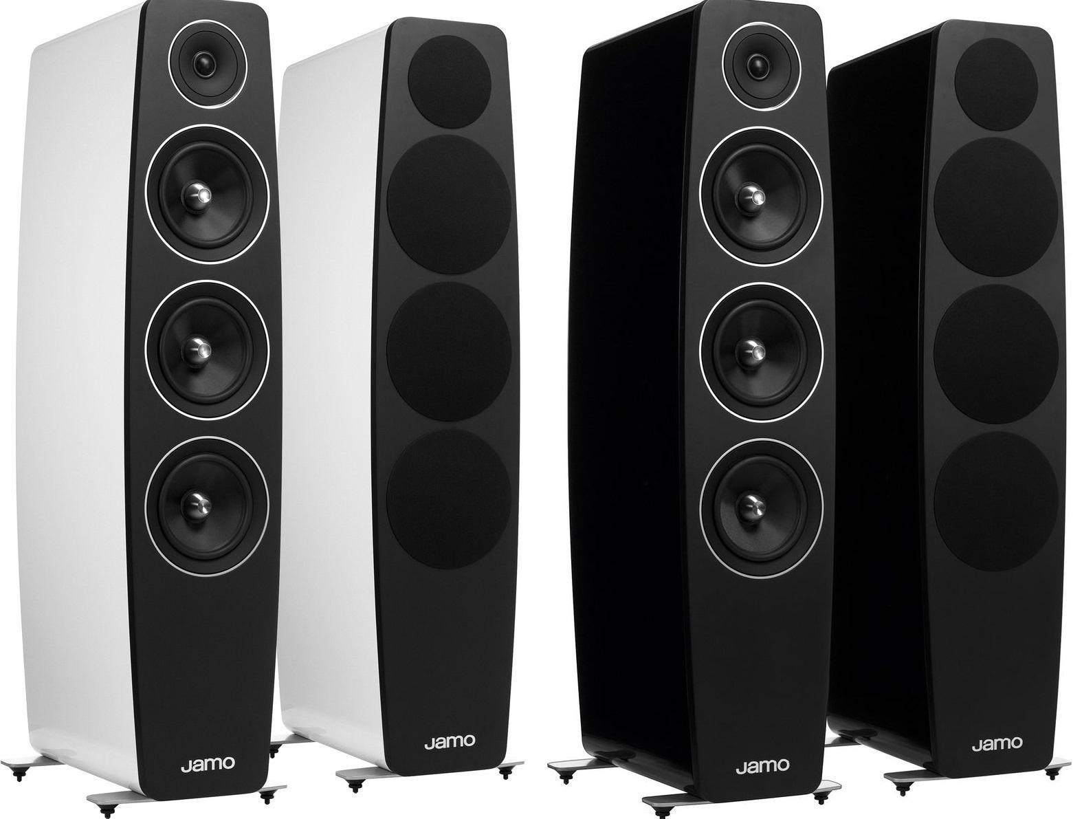 Sélection d'Enceintes Jamo en promotion - Ex: Paire de Colonnes Bass-reflex à 3 voies Jamo Concert C109 (200/400W, Noir ou Blanc Laqué, 36,3kg chacune)