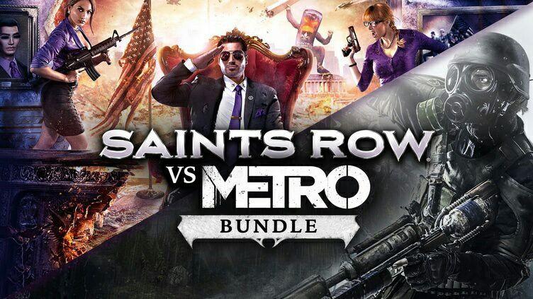 Saints Row vs Metro Bundle: 4 Jeux + Tous les DLC Saints Row sur PC ( Dématérialisé - Steam )