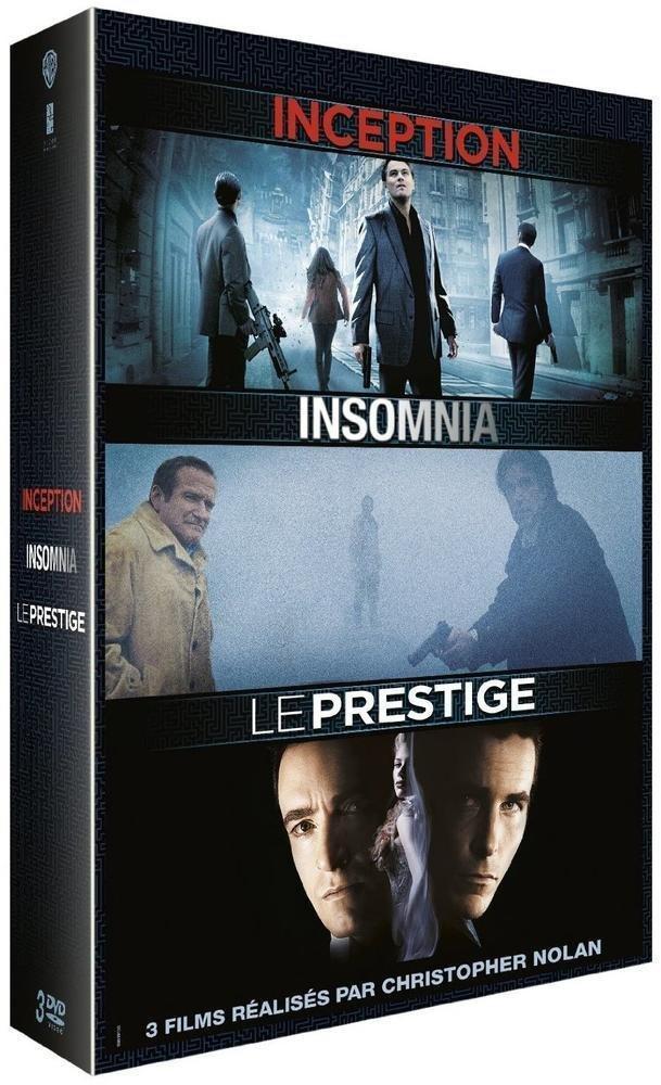 Coffret Blu-ray Christopher Nolan - Inception + Insomnia + Le Prestige