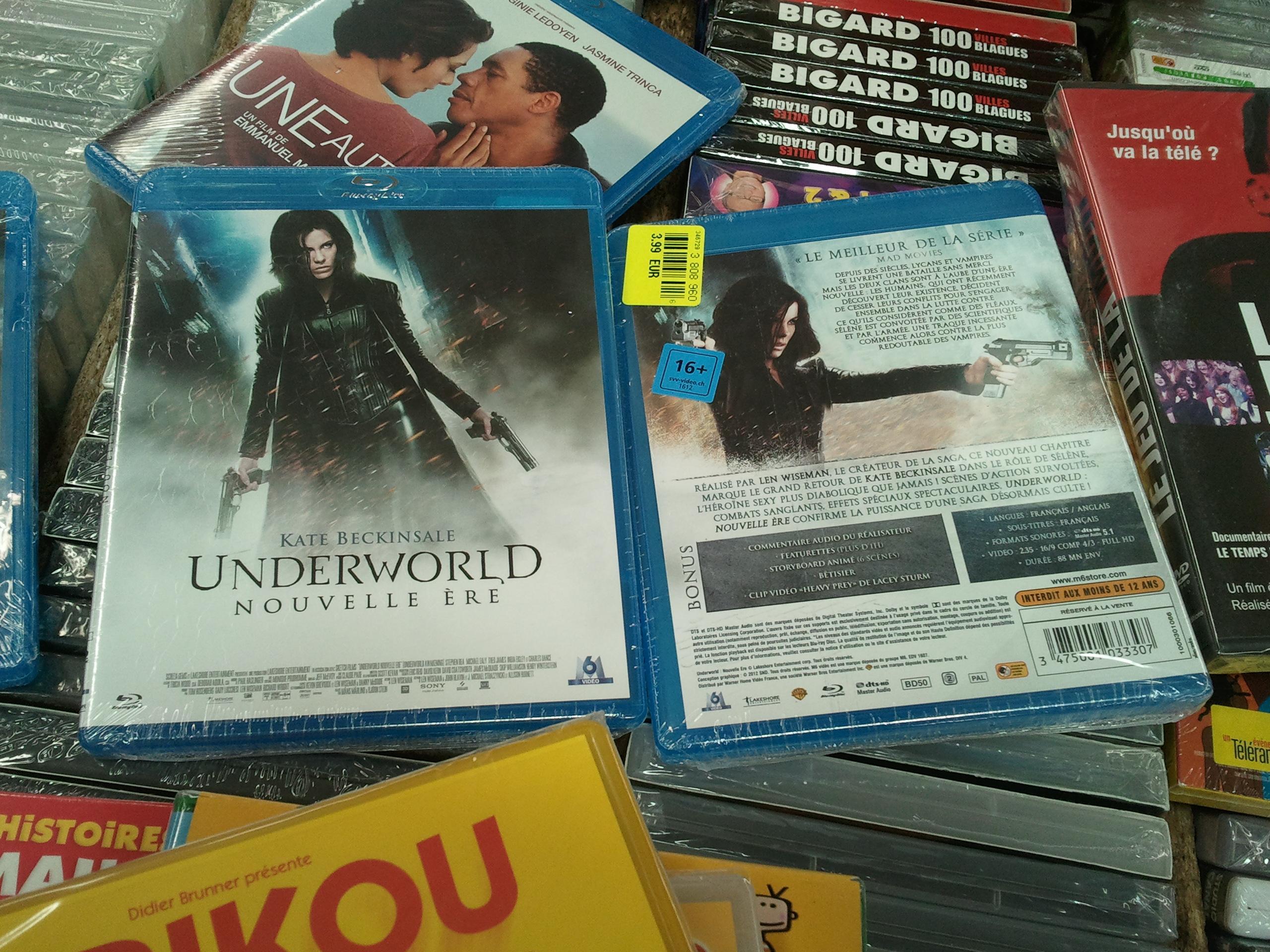 Sélection de Blu-ray en promotion - Ex : Underworld : Nouvelle Ère