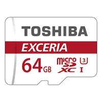 Carte microSDXC Toshiba Exceria M302 U3 Classe 10 - 64 Go + Adaptateur SD