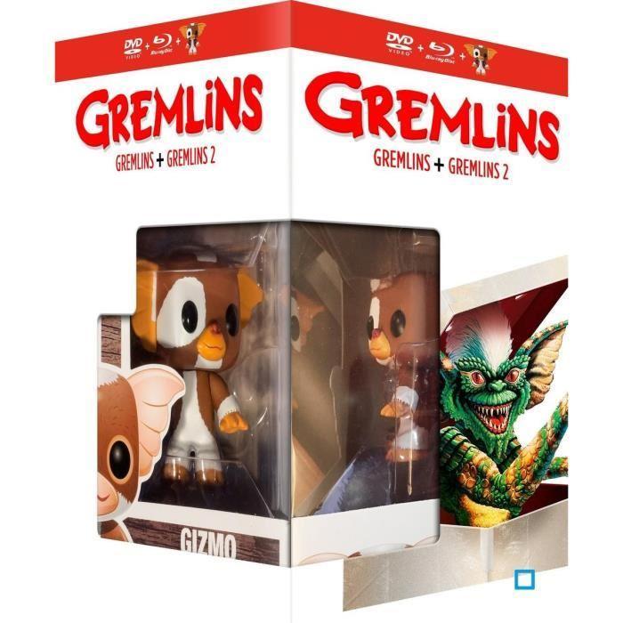 Coffret Blu-ray + DVD Gremlins 1 et 2 + Figurine Funko Pop!