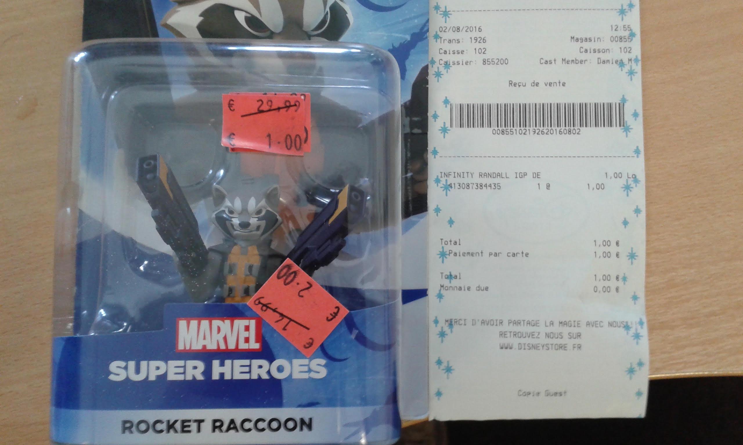 Figurine Marvel ( ocket racoon) ou Leon (Monster Academy)