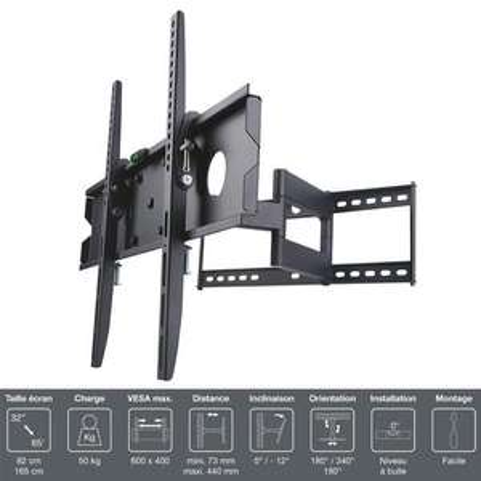 "Support TV Mural Orientable Inotek Pro M1 3265 - 32"" à 65"""