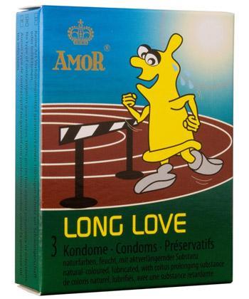 Boîte de 3 préservatifs Amor Long Love