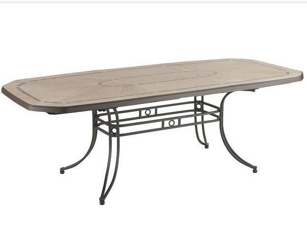 Table Amalfi Grosfillex en métal et résine (220 x100 x72)