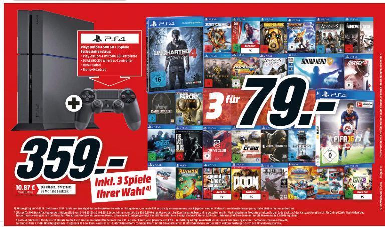 3 Jeux PS4/Xbox One/ PC parmi une sélection à 79€ - Ex: GTA V+ Uncharted 4 + Mirror Edge Catalyst