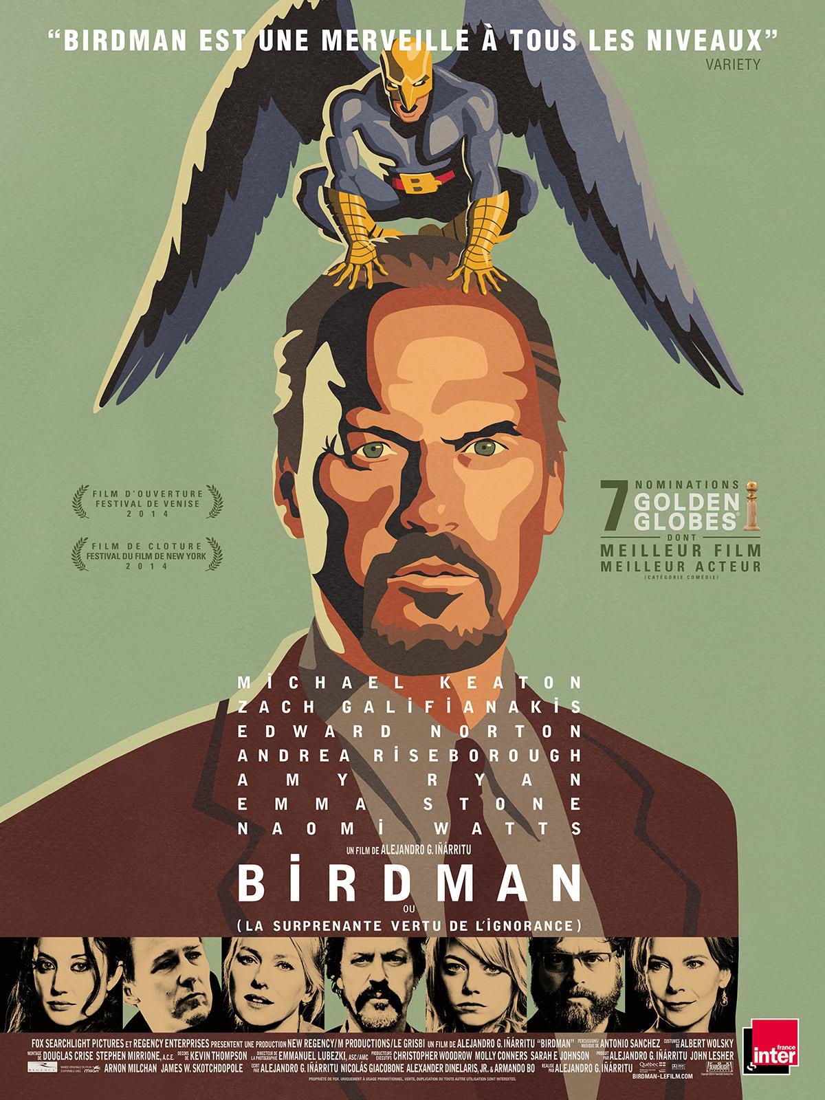 Film Birdman en VOD HD (Dématérialisé) gratuit