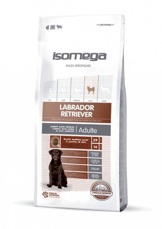 Sac de Croquettes Isomega Labrador Retriever pour Chiens adultes - 12kg