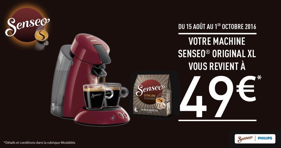 Machine à café à dosettes Senseo Xl (via ODR)