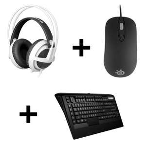 Pack Gaming Steelseries  : Casque Micro V3 blanc + Souris Kinzu V3 noire + Clavier Apex Raw + Far Cry Primal