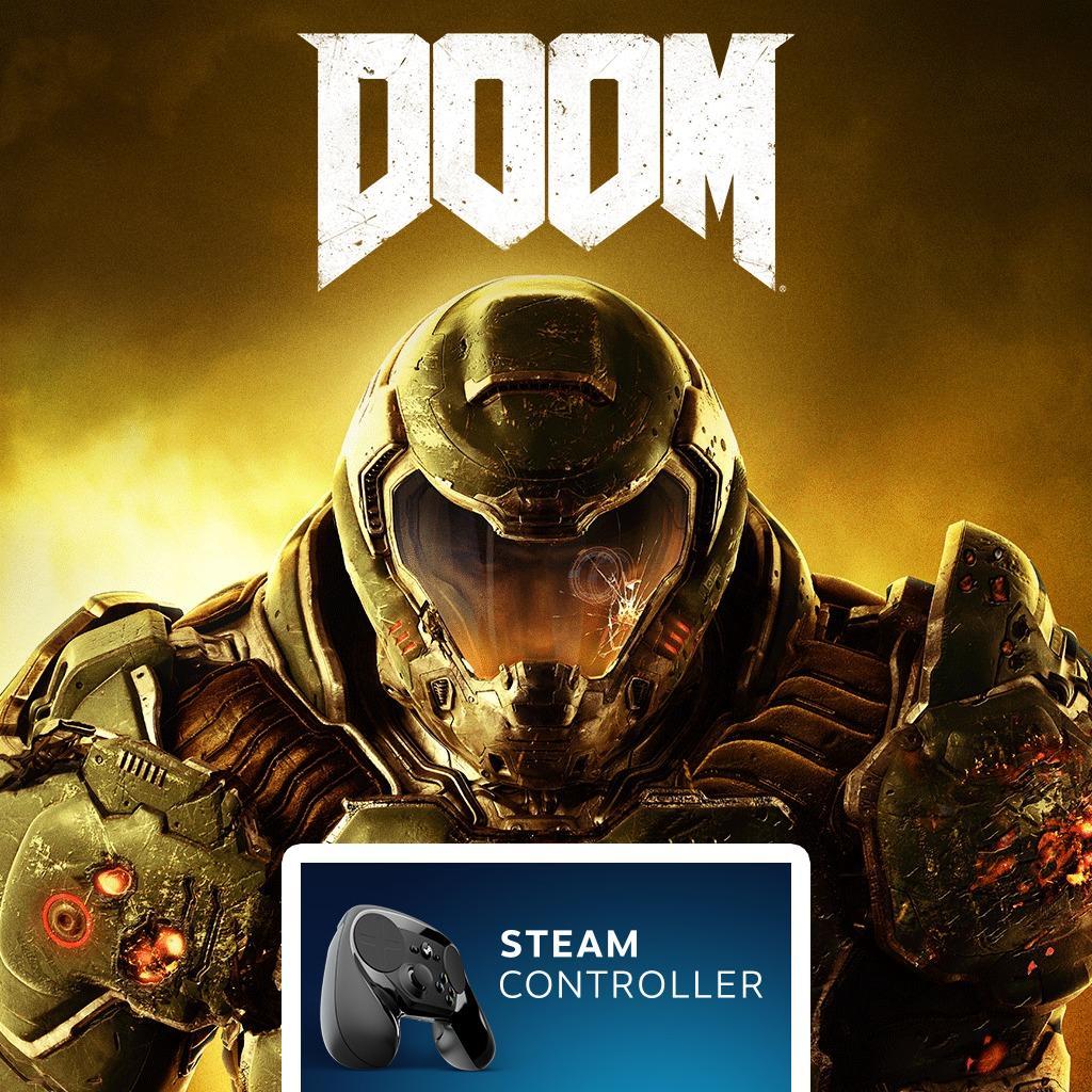 DOOM sur PC (Dématérialisé) + Manette Steam Controller
