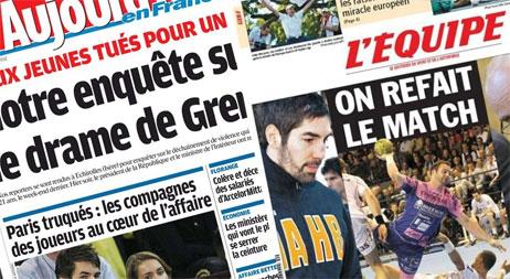 Journaux Aujourd'hui en France + l'Equipe, ce jour