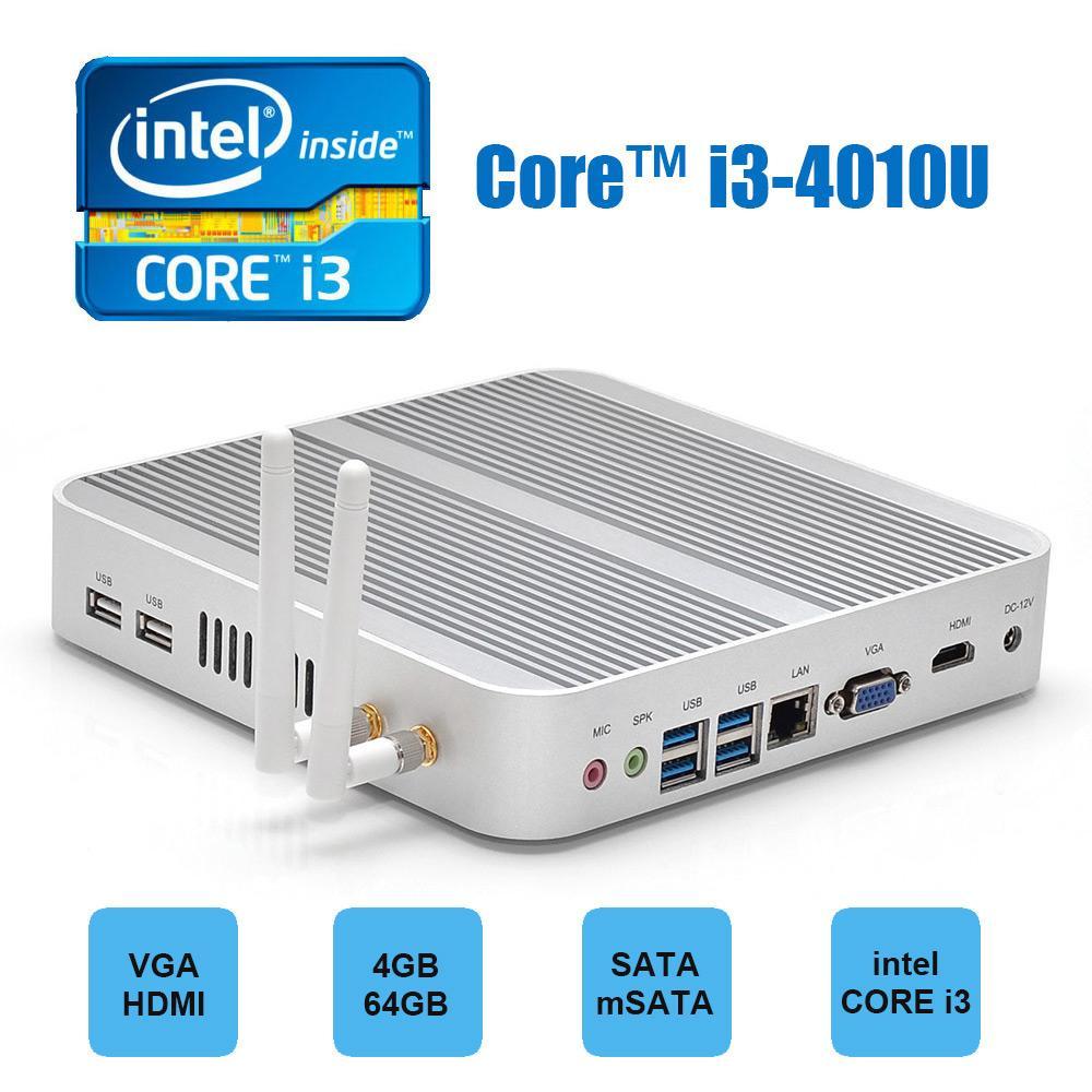 Mini-PC Barebone Hystou FMP03 Blanc - i3-4010U, RAM 4Go, 64Go, HDMI, Wi-Fi, USB 3.0