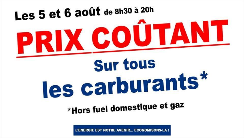 Prix coûtant sur tous les carburants (Hors Fuel et Gaz)