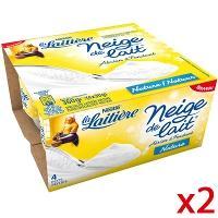 Deux packs de Neige de lait La laitière (via 1.48€ sur la carte + BDR)