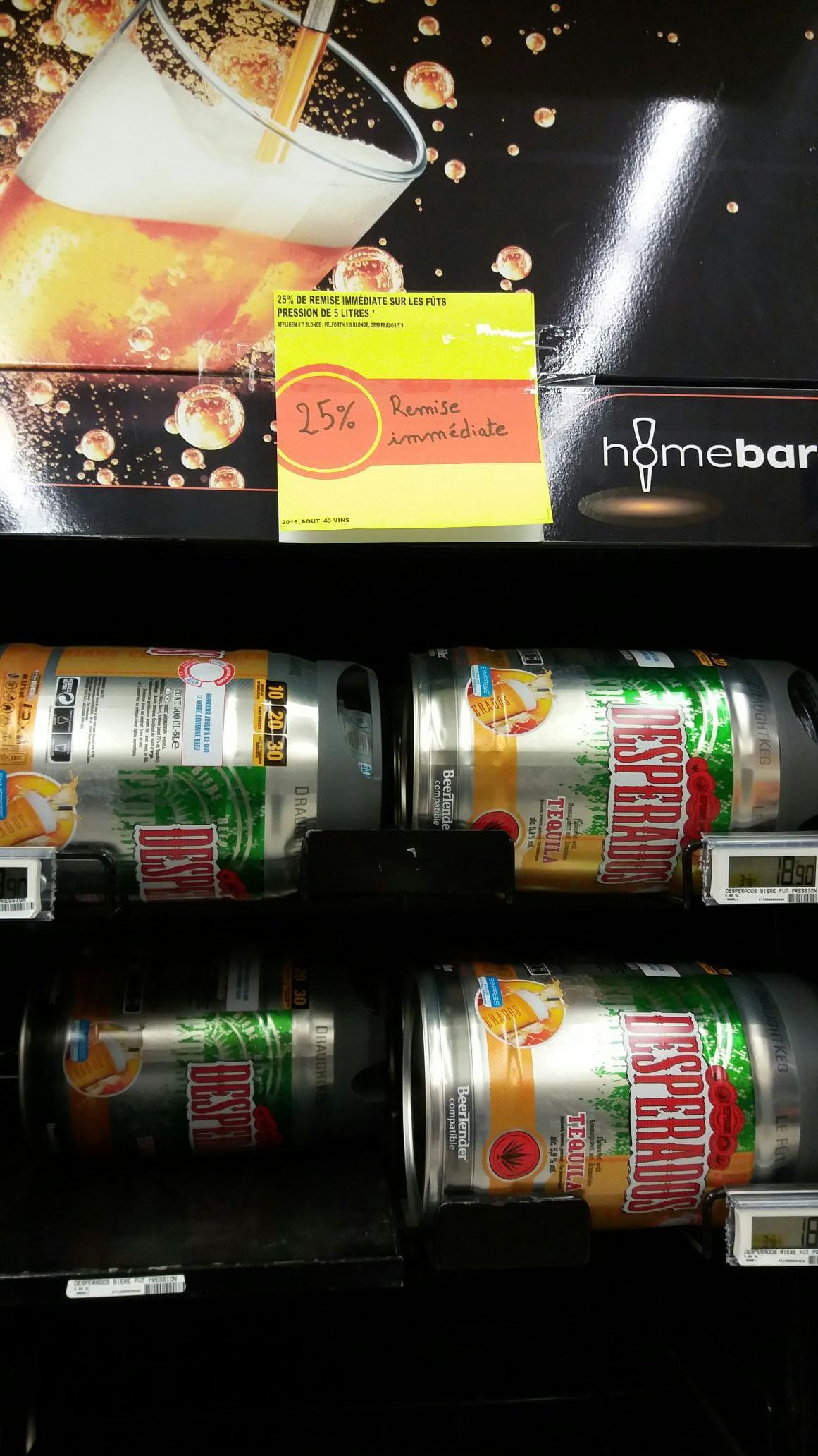 25% sur les fûts de bière - Ex : Fût de Desperados 5L