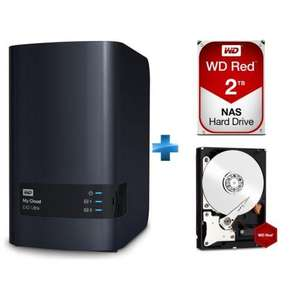 Nas Western Digital My Cloud EX2 Ultra + 2 disques durs WD Red 2 To (4 To)