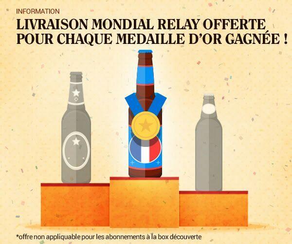 Livraison offerte à chaque médaille d'or de l'équipe de France durant les Jeux Olympiques (au lieu de 3.99€)