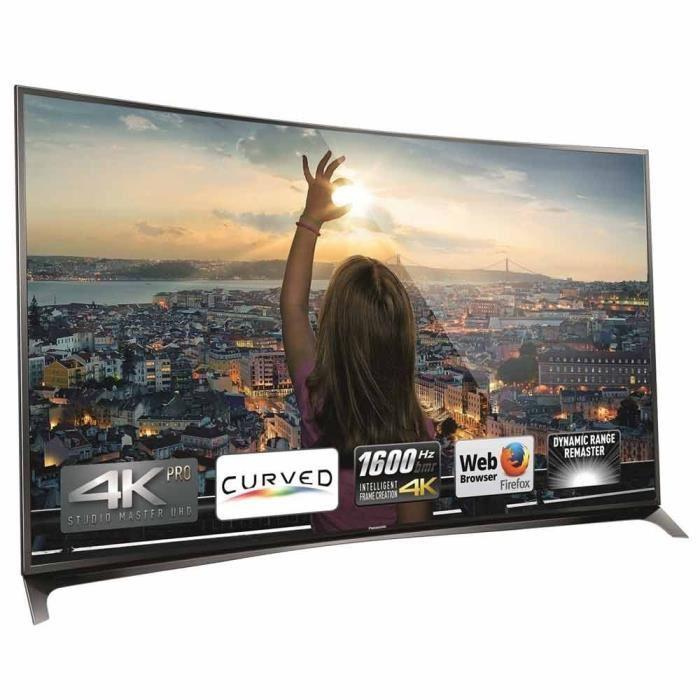 """TV 55"""" Panasonic TX-55CR850 - UHD 4K, Incurvée"""