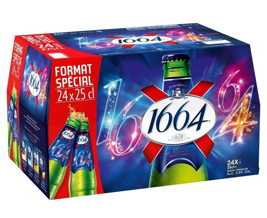 Pack de 24 bières 1664 - 25 cl