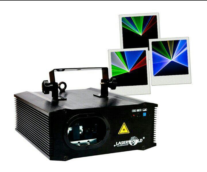 Système Laser multicolore Laserworld ES-400RGB (Rouge / Vert / Bleu) - 400mW.à