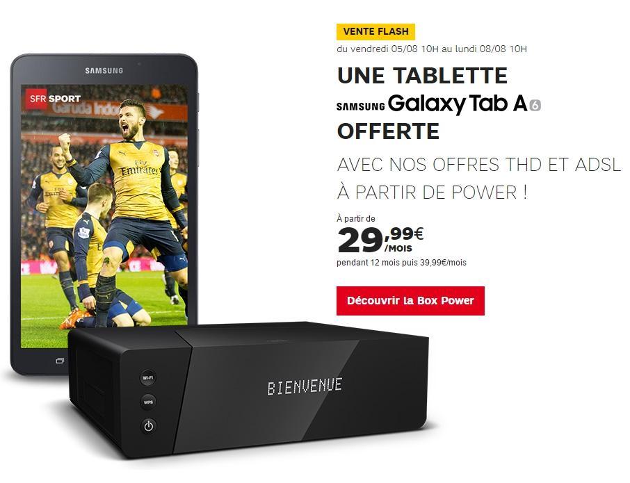 Abonnement mensuel à la Box Power (pendant 12 mois) + tablette tactile Samsung Galaxy Tab A6 offerte
