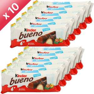 Lot de 10 paquets de 3 Kinder Bueno