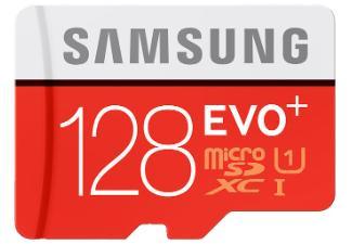 Carte mémoire micro SDHC Samsung Evo Plus Class 10 avec adaptateur SD - 128 Go