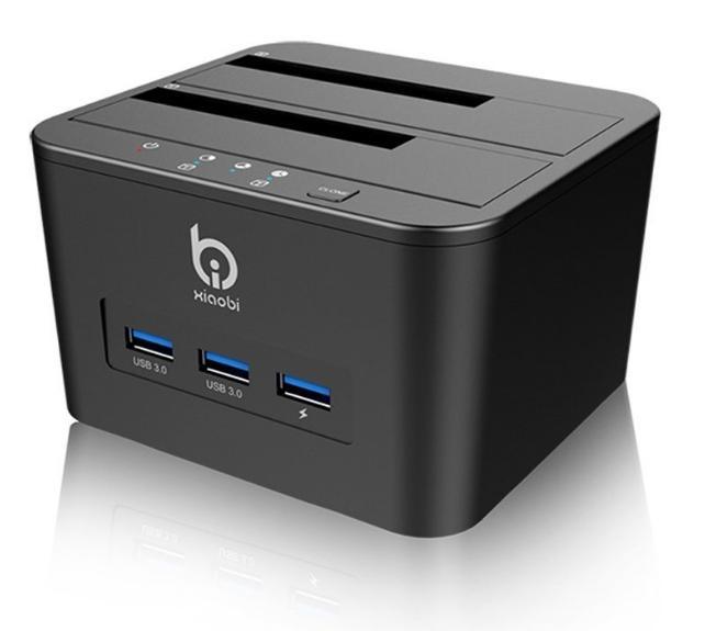 Station d'accueil pour 2 Disques Durs SATA USB 3.0 Fonction Clonage / Recharge