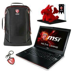 "PC Portable 15.6"" Full HD  MSIGP62 6QE-812XFR LeopardPro (i7-6700HQ, 8 Go Ram, 1 To HDD, GTX 950M, FreeDos)"