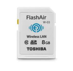 Carte SD Toshiba FlashAir Wi-Fi - 8 Go