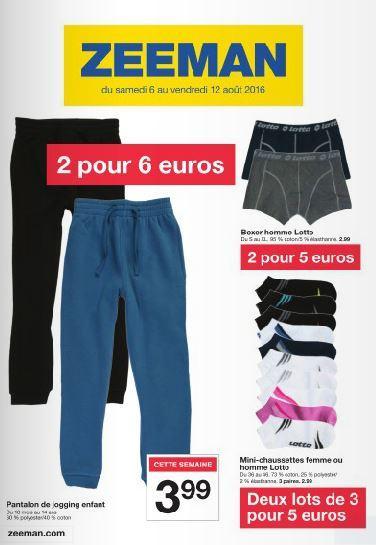 Sélection d'articles en promo - Ex : Lot de 6 paires de Mini chaussettes Lotto femme ou homme