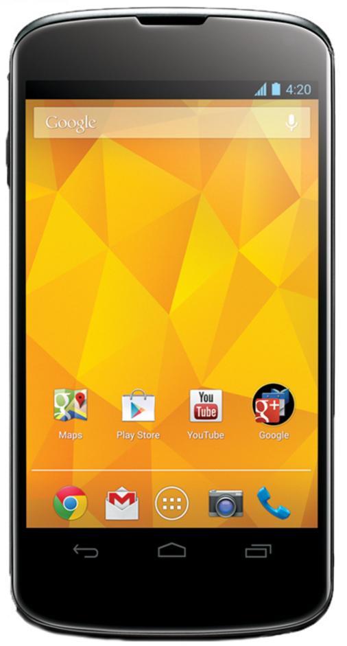 """Smartphone 4.7"""" Nexus 4 - 16 Go, 3G, (nouveaux clients) Reconditionné"""